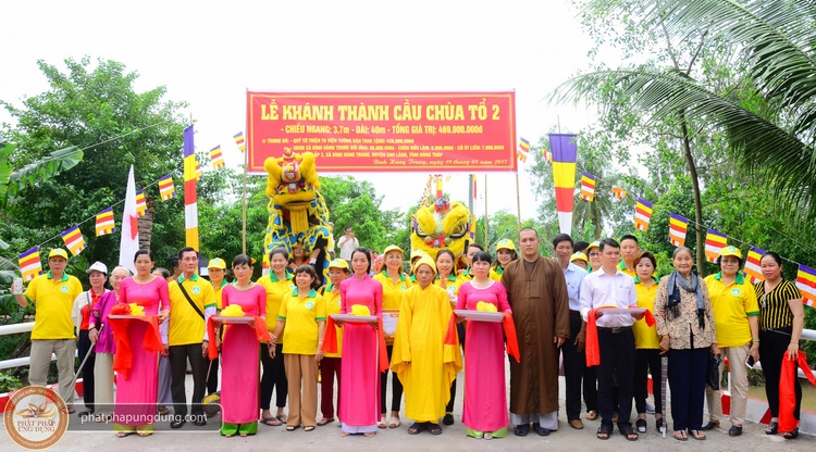 TV Tường Vân: Trao cầu Chùa Tổ 2 tại Đồng Tháp